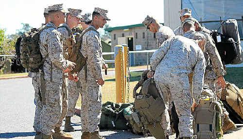 US marines arrive in Rockhampton for Talisman Sabre.