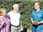 Stephen Lloyd and his wife Wendy are reunited with Yeppoon paramedic Jeff Neil, who saved Stephen's life.