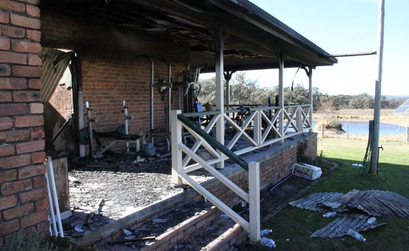 It is a believed a young family were home at the time but everyone made it out unharmed.