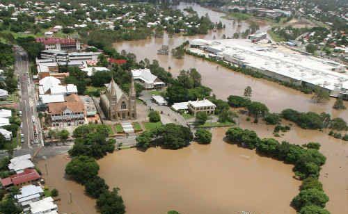 Flooding in Ipswich.
