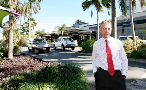 Director of engineering services for Mackay Regional Council, Stuart Holley, on Wood St where drainage repair and roadworks will soon take place.