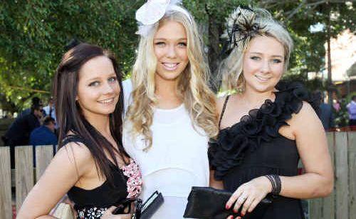 Jemma Barnett, left, Domanii Cameron and Bridgette Kelly made an eye-catching trio.