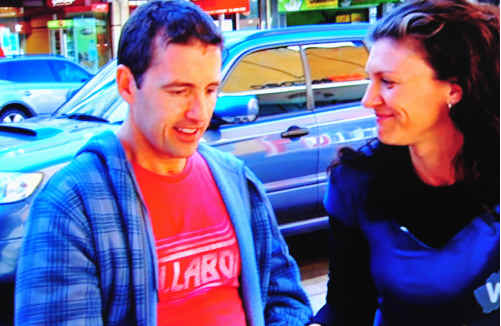 Scott McLean with partner Raelene Chapman as seen on the television interview on Sunday night.
