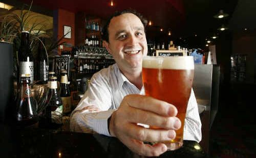 Yamanto Tavern manager Peter Coultas tastes one of their many craft beers.