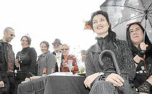 (From left) Dan Nahum, of Sydney, Kim Vincent and Sue Keogh, of Ballina, Glenn Campbell, of Coraki, Sandra Vincent, of Ballina, and Genevieve Graynger, of Lismore, and Marie Vincent, of Ballina, enjoy the opera.