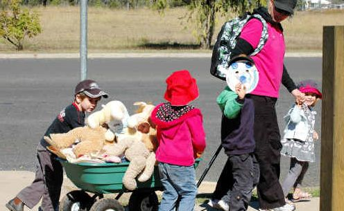 Kids cart along their cuddly best friends to the Teddy Bear's Picnic.