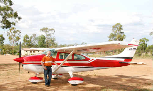 Emerald's new president of the Rural Doctors Association Queensland Dr EwenMcPhee indulges in his passion for flying.
