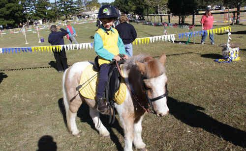 Callum Lehman on Romeo. Callum, from Widgee, came first in the under 6 division.