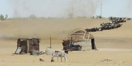Sandstorms at nomad camps remind travellers of the fragility of life in the arid Kyzylkum Desert.