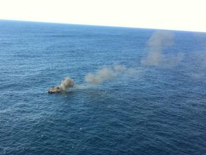 Three rescued after cruiser fire