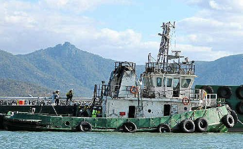The tugboat Adonis, that sank killing its captain, is refloated.