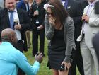 Johnson Porykali proposed to a shocked but delighted Lisa Casson at the Grafton Cup.
