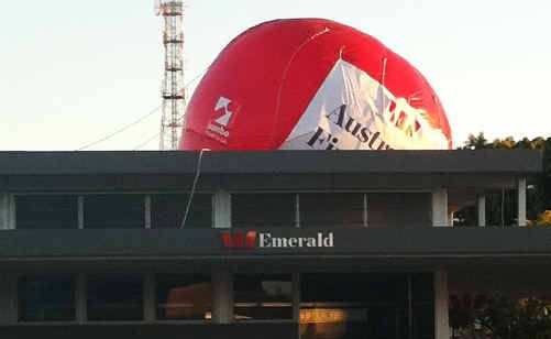 A power outage was a letdown for Westpac's hot air balloon.