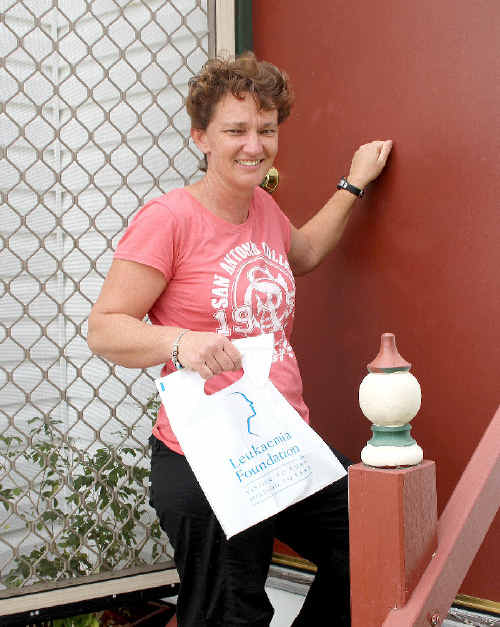 Justine Connor, who is taking part in the Leukaemia Foundation of Queensland's annual doorknock appeal for the second year, hopes the region's residents will be generous in their support.