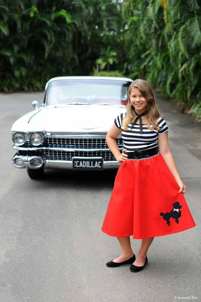 Bindi Irwin will arrive in a Cadillac for her 1950s-themed 13th birthday party.