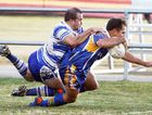 Norths halfback Steven West dives over for a long-range try that gave his team some consolation in its 28-6 Ipswich Rugby league A-grade loss to Brothers at Briggs Road yesterday.