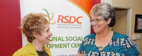 Deborah Rae and Sandra Ruddock are helping link volunteers with organisations in need.