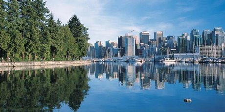 Vancouver is home to more than two million people and has plenty of green spaces to take in the city's beauty.