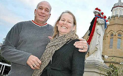 Abbey of the Roses owners Mark Cains and Sonia Hunt are having Jumpers and Jazz events – even the statue St Joseph isn't feeling left out.