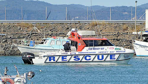 Volunteer Marine Rescue brought back two people from Fraser Island on the weekend.
