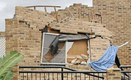 A home destroyed in Lennox Head when a freak tornado tore through the town last June.