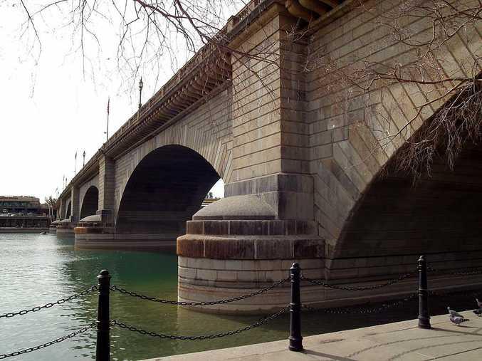 London Bridge as it is today, rebuilt in Lake Havasu City, Arizona