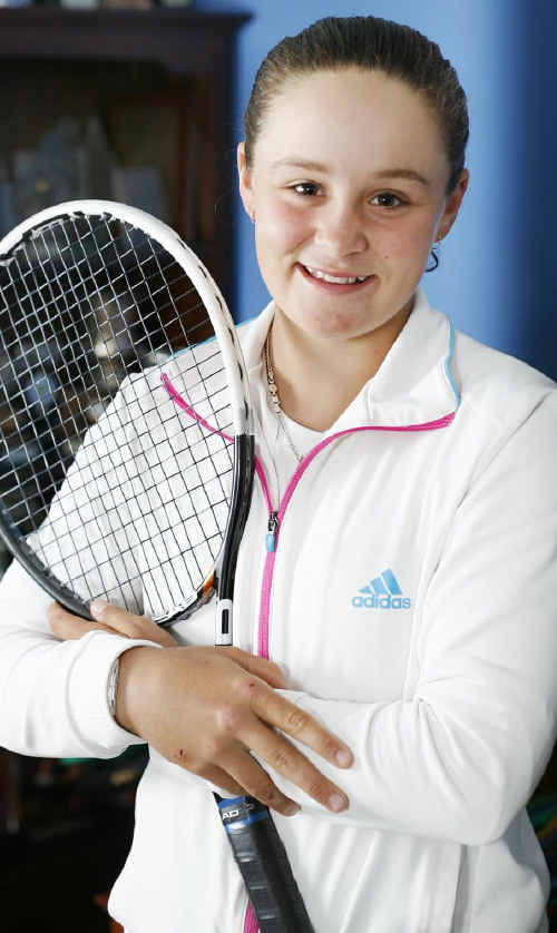 Recently crowned Wimbledon junior tennis champion Ashleigh Barty benefited from playing on clay courts in Ipswich.