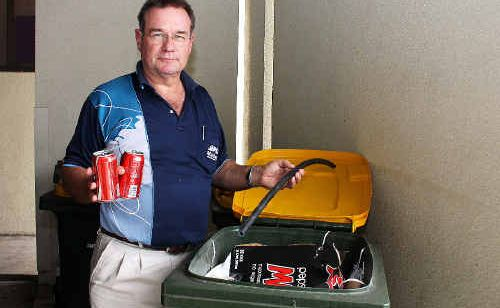Mackay Regional Council waste portfolio councillor Greg Thomsen wants residents to think about what they're putting in their recycling bins.