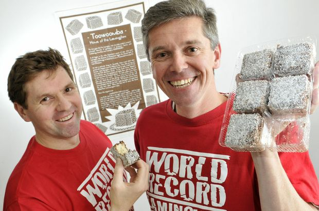 Geoff McDonald and Julian Lancaster-Smith are adamant Toowoomba is the home of the lamington.