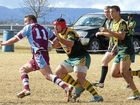 Wattles front-rower Carl Gale about to pounce on Goondiwindi back-rower Angus King in Sunday's TRL under-18 clash at Platz Oval.