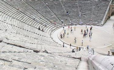 The ancient theatre at the Sanctuary of Epidaurus.