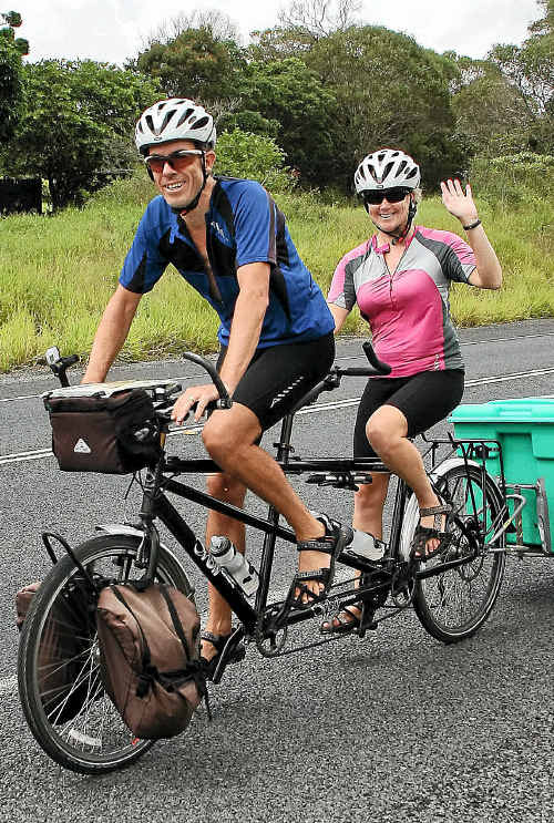 Huw and Carolyn Thomas are gearing up for their big cycle event.