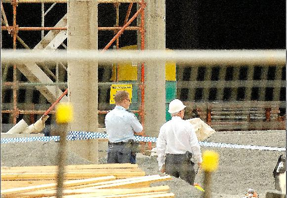 Lee Tapping, 33, died after a concrete mould fell on him at the Grafton Shoppingworld redevelopment site.