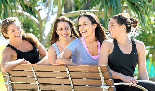 Sians Zumba Classes on the Gold Coast instructors Jaime Vella, Alana Barea, Paris Lucas and Marie Addinsall.