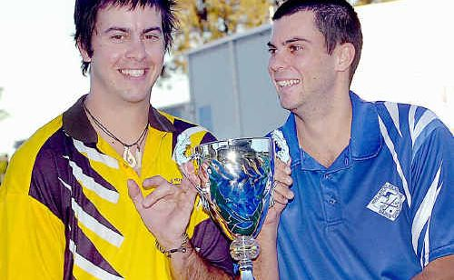 Tim Grevell (right) of Wallaroos and his brother Aaron of Granville Tigers will be playing each other in the Feathers Cup in memory of their father Peter.
