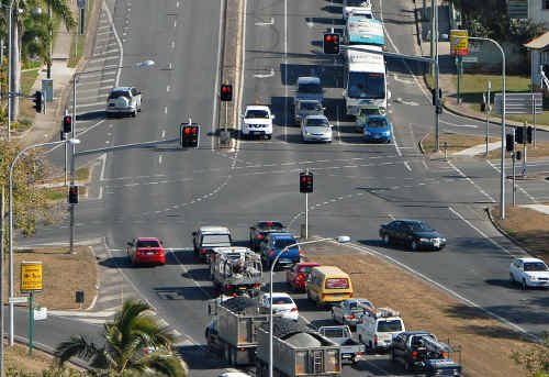 Congestion and frustration is common place at the Nebo Rd and Shakespeare St intersection.