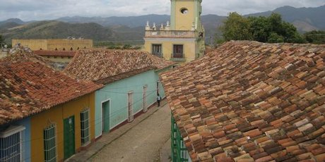 Trinidad's tiled rooftops.
