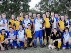 Granville Tigers and Wallaroos before they played for the inaugural Feathers Cup in memory of Peter Grevell in Maryborough.
