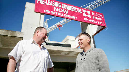 Property developer Rick Shelley, left, and development manager John Harris are looking forward to breathing new life into the Latitude site.