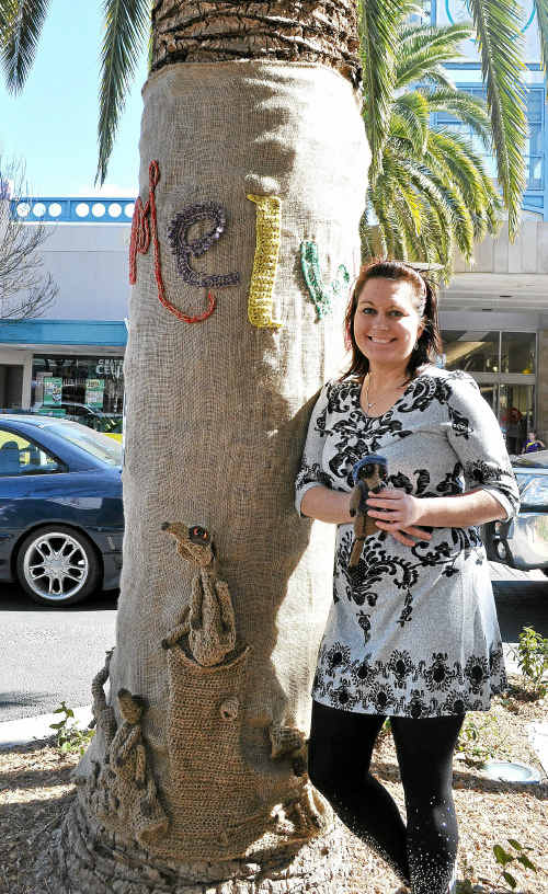 Jessica Thompson with her winning tree jumper in Palmerin St.