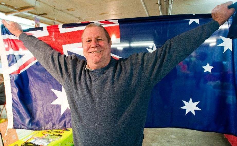 In Coffs Harbour, Paul Evans celebrates his son's Tour de France triumph.