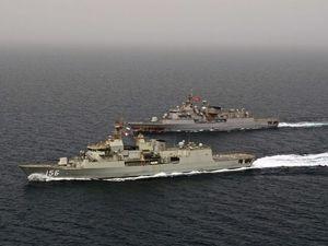 Anzac dawn service aboard HMAS Toowoomba