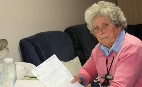 68-year-old Wendy Carlier must drive to Emerald to lodge her regular Medicare claims.
