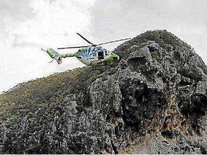 Paramedic in amazing cliff rescue