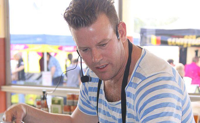 Celebrity chef Ben O'Donoghue at Flavour Fest.