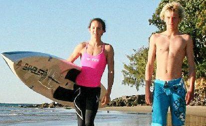 Noosa surf lifesavers Jordan Mercer and Lincoln Dews (pictured) take part in Molokai 2 Oahu Paddleboard World Championship.