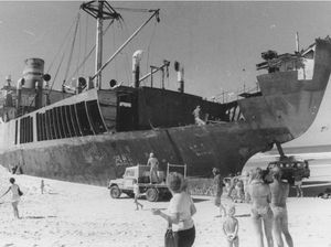 40 years on:  Cherry Venture wrecking on Teewah Beach