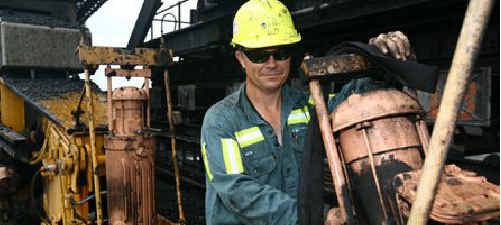 Mechanical systems maintainer Michael Ford at work at Dalrymple Bay Coal Terminal. DBCT will join many Mackay region businesses showcasing career opportunities at a careers expo at the MECC on August 10.