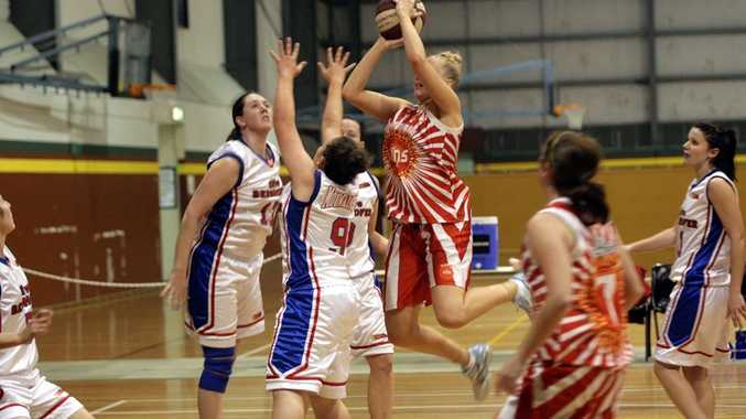 Caboolture Suns player Simone Grant goes up for the shot.