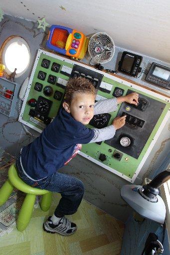 Brett Bunter has built an amazing cubbyhouse for his boys, Kurt, 5, and Beau 18 months.